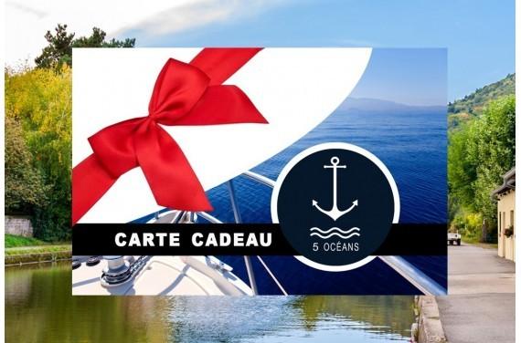 Permis fluvial - Carte cadeau à imprimer 280€ (Au lieu de 350€, Promo du mois d'Octobre jusqu'au 31/10)