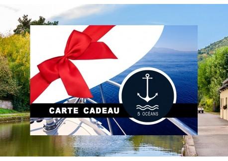 Permis fluvial - Carte cadeau à imprimer 280€ (Au lieu de 350€, Promo du mois de septembre jusqu'au 30/09)